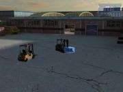 Gabelstapler-Simulator 2009: Screenshot aus der Gabelstapler-Simulation 2009
