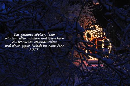 Allgemein - Das ePrison Team wünscht fröhliche Feiertage