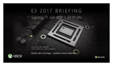 Allgemein - Große XBox Pressekonferenz auf der E3 2017 angekündigt