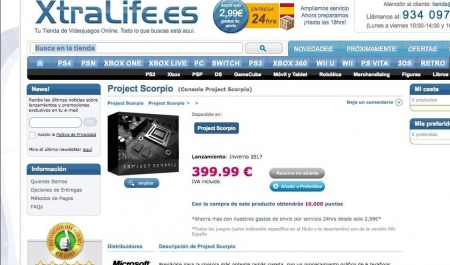 Allgemein - Preis der Project Scorpio im Internet geleaked?