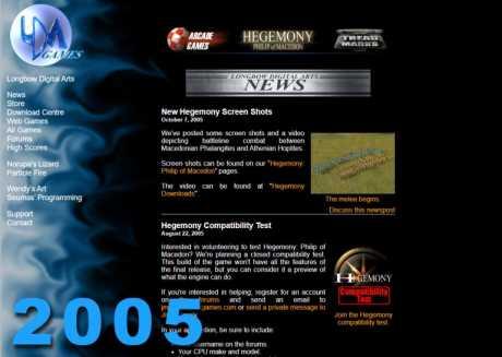 Allgemein: Longbow Website 2005