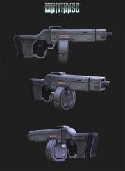 Earthrise: Waffenstudie zum kommenden MMO Earthrise.