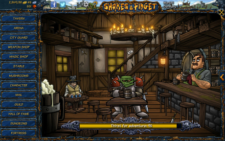 Shakes and Fidget: Screen zum Spiel Shakes and Fidget.