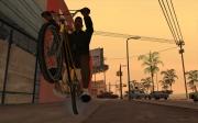 Grand Theft Auto: San Andreas: Die Hauptperson auf einem Motorrad.