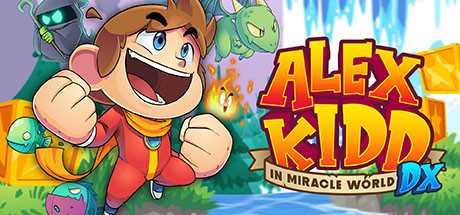 Logo for Alex Kidd in Miracle World DX