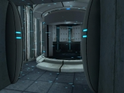 Portal: Durch die Strahlen werden alle Gegenstände vaporisiert.