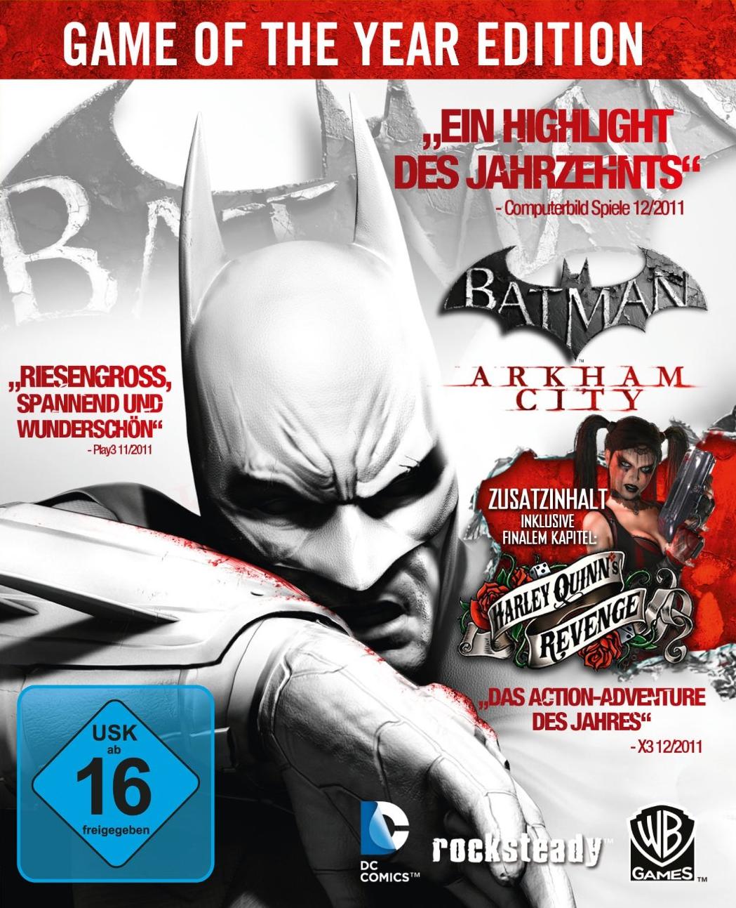 Batman: Arkham City - GOTY Deutsche  Texte, Untertitel, Menüs, Videos, Stimmen / Sprachausgabe Cover