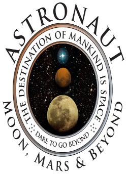 Logo for Astronaut: Moon, Mars and Beyond
